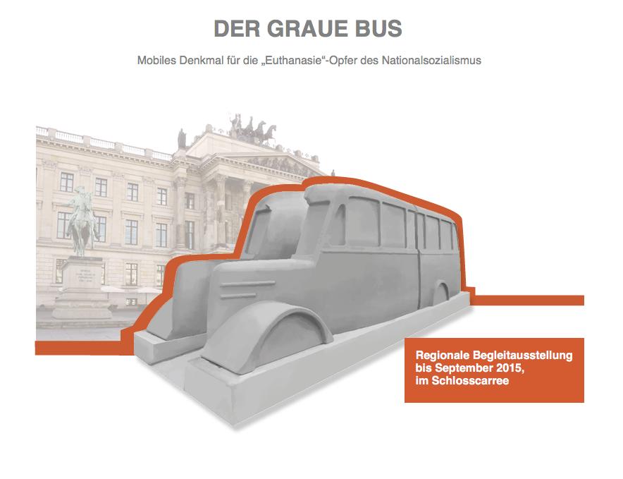 """DER GRAUE BUS Mobiles Denkmal für die """"Euthanasie""""-Opfer des Nationalsozialismus"""